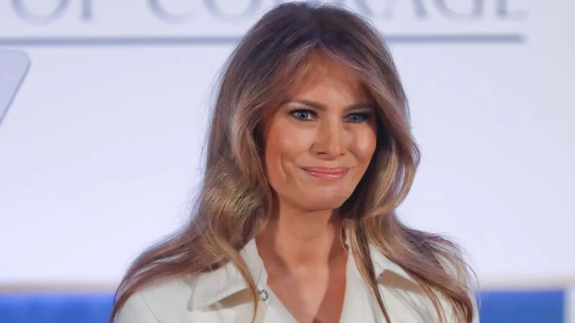 Melania Trump in The Row and Christian Louboutin at the 2017 International Women of Courage