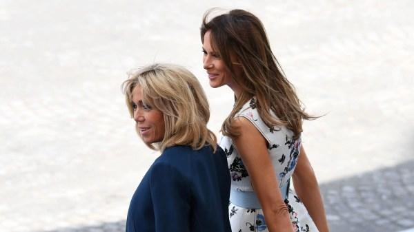 Melania Trump Wears Valentino Brigitte Macron Suits In