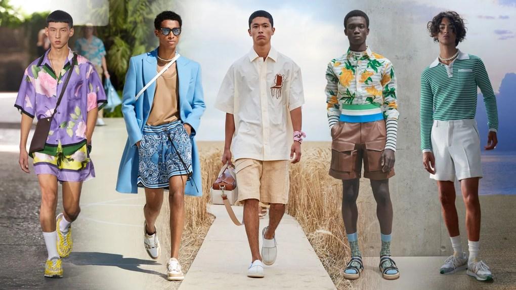 Spring shorts at Valentino Amiri Jacquemus Dior and Casablanca