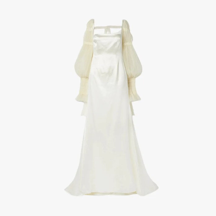 Picture can contain: clothes, clothes, evening dress, gown, robe, fashion, wedding dress and wedding