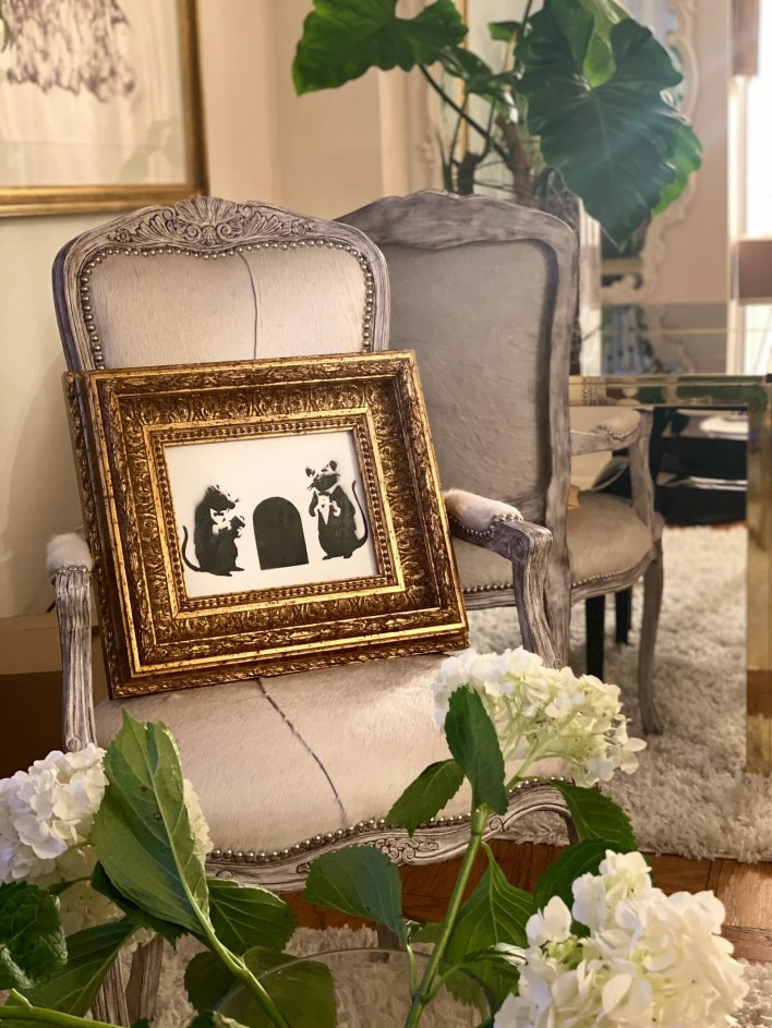 My taste has always been a mix of midcentury modern and classic French Mar says of her decor style.