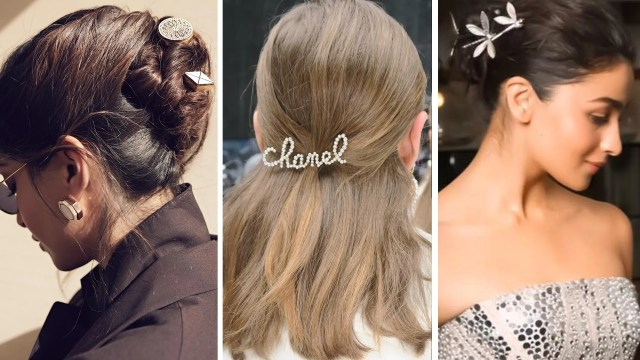 hairstyle trend: barrettes, hair clips - celebrity, runway