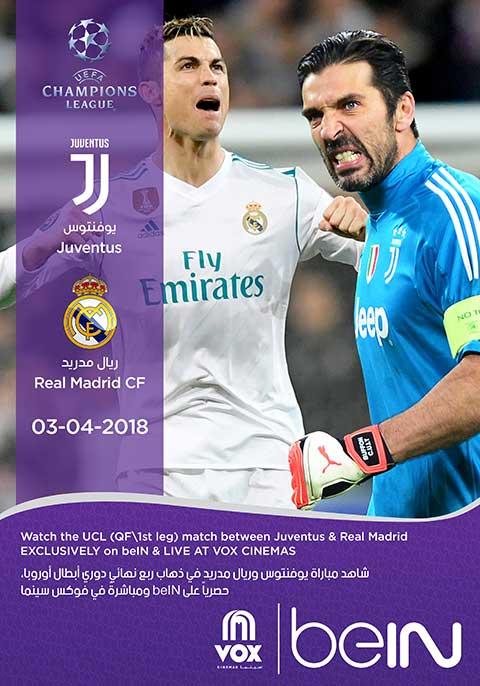 Real Madrid Vs Juventus Live Stream : madrid, juventus, stream, Madrid, Juventus, Showing, Tickets, Cinemas