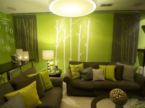 living lime interior decorating yellow nice minimalis rumah cat brown contemporary tropical paint rooms sage wingback chair casa orange tendenze