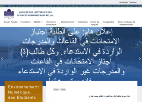 flshbm.ma at WI. Accueil - Faculté des Lettres et des Sciences Humaines Beni Mellal