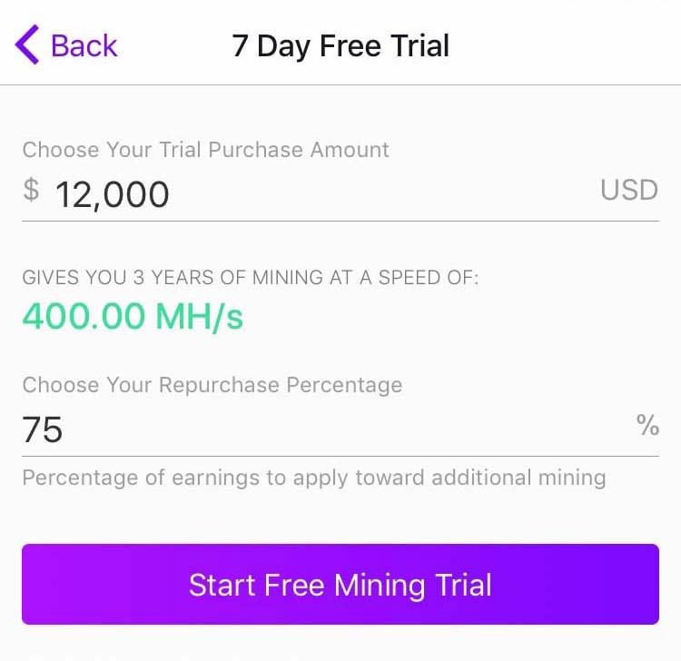 free mining trial
