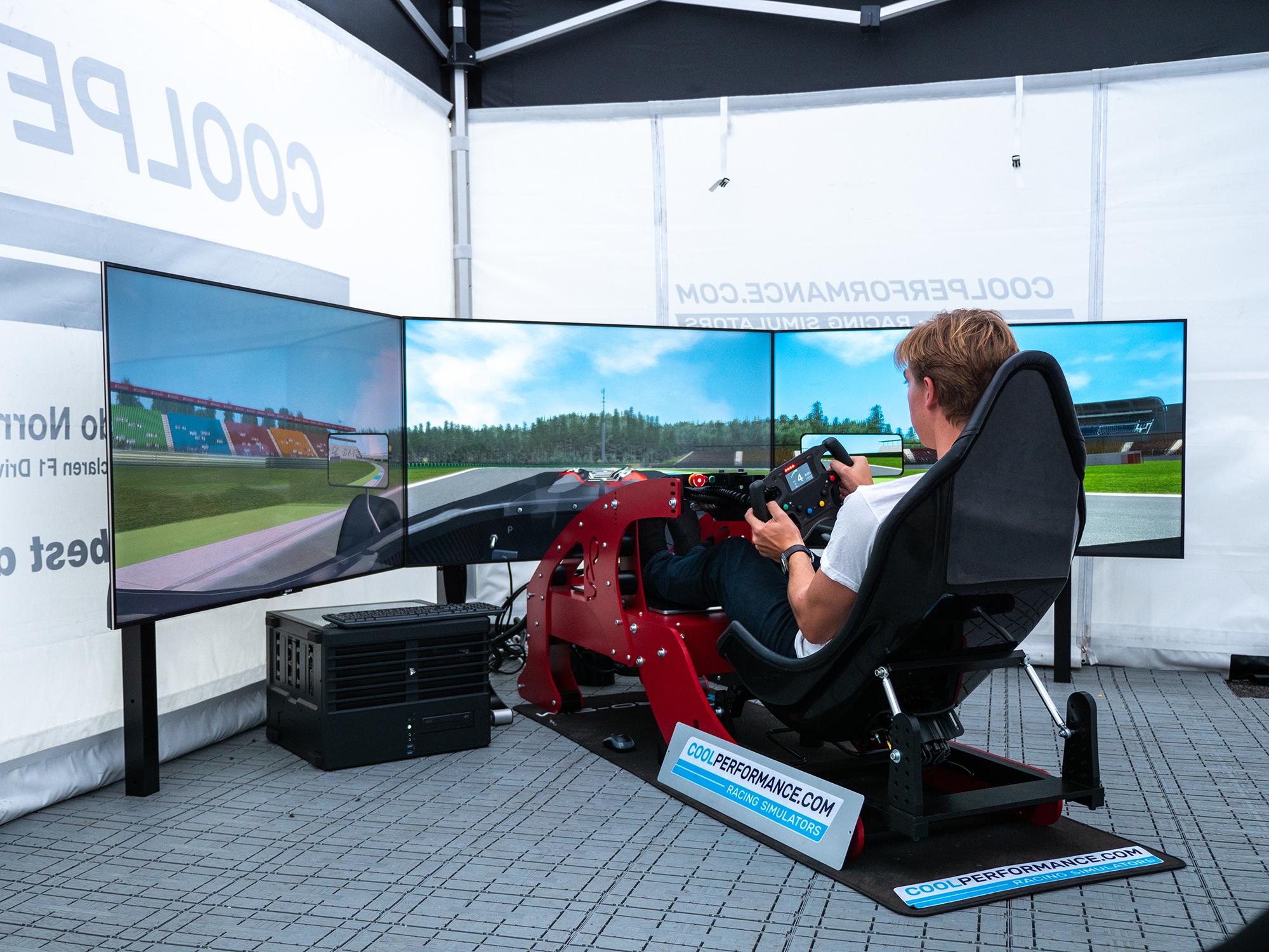 formula simulator cool performance