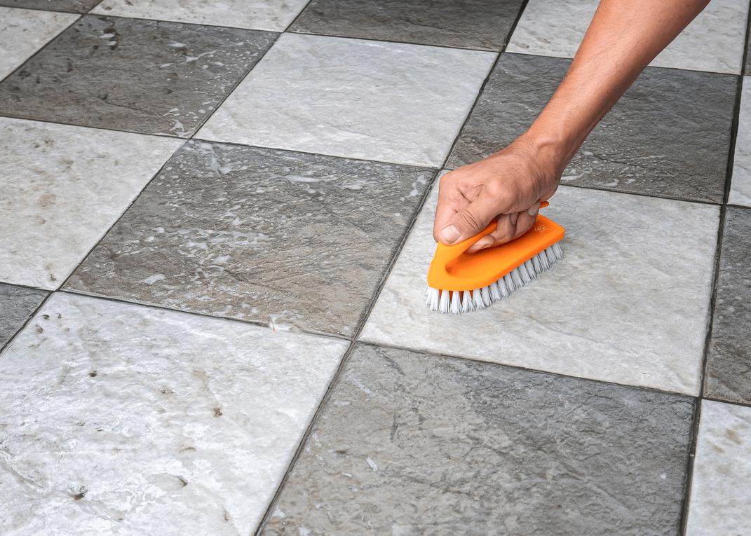 best way to deep clean tile flooring