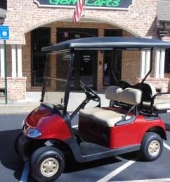 2014 ezgo rxv gas red golf cart [ 1200 x 900 Pixel ]