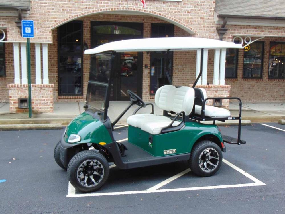 medium resolution of sold 2018 demo ezgo rxv green golf cart lithium