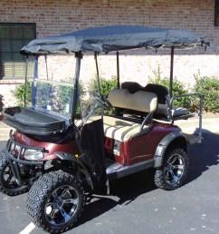 2008 ezgo rxv lifted plum golf cart [ 1200 x 900 Pixel ]