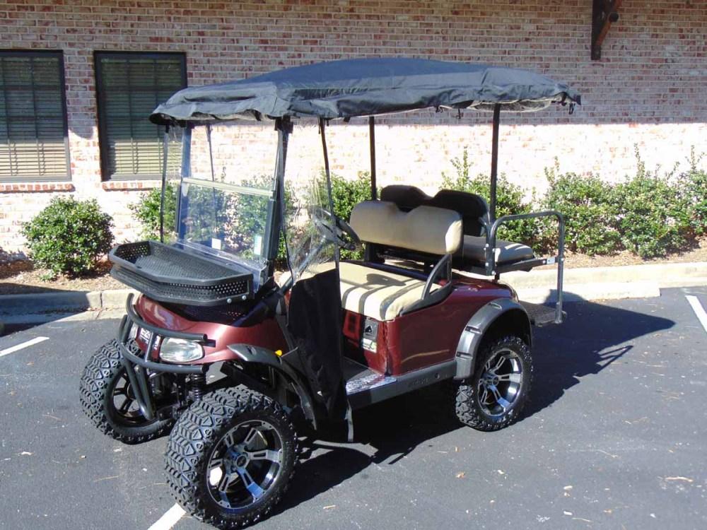 medium resolution of 2008 ezgo rxv lifted plum golf cart