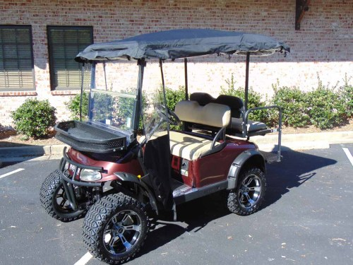small resolution of 2008 ezgo rxv lifted plum golf cart