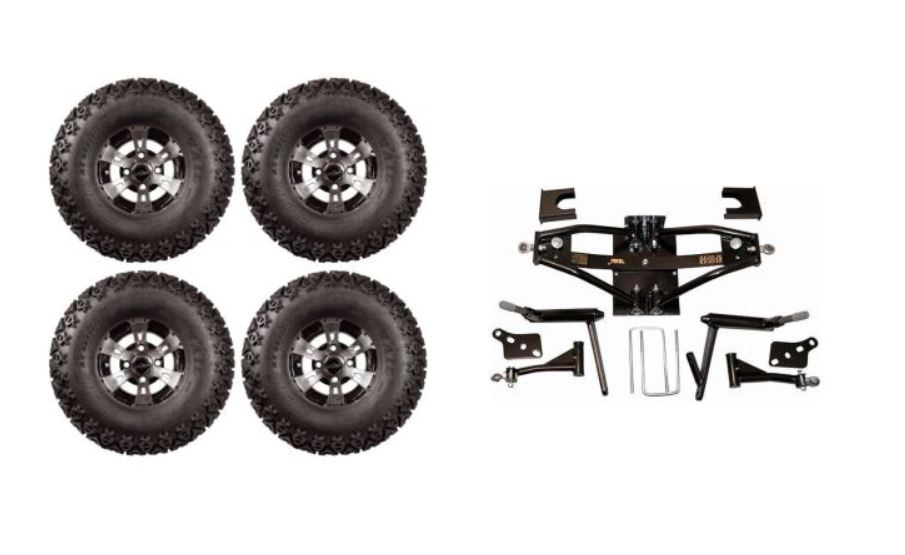 Lift Kit Combo with 10 inch Colossus for Club Car DS Golf