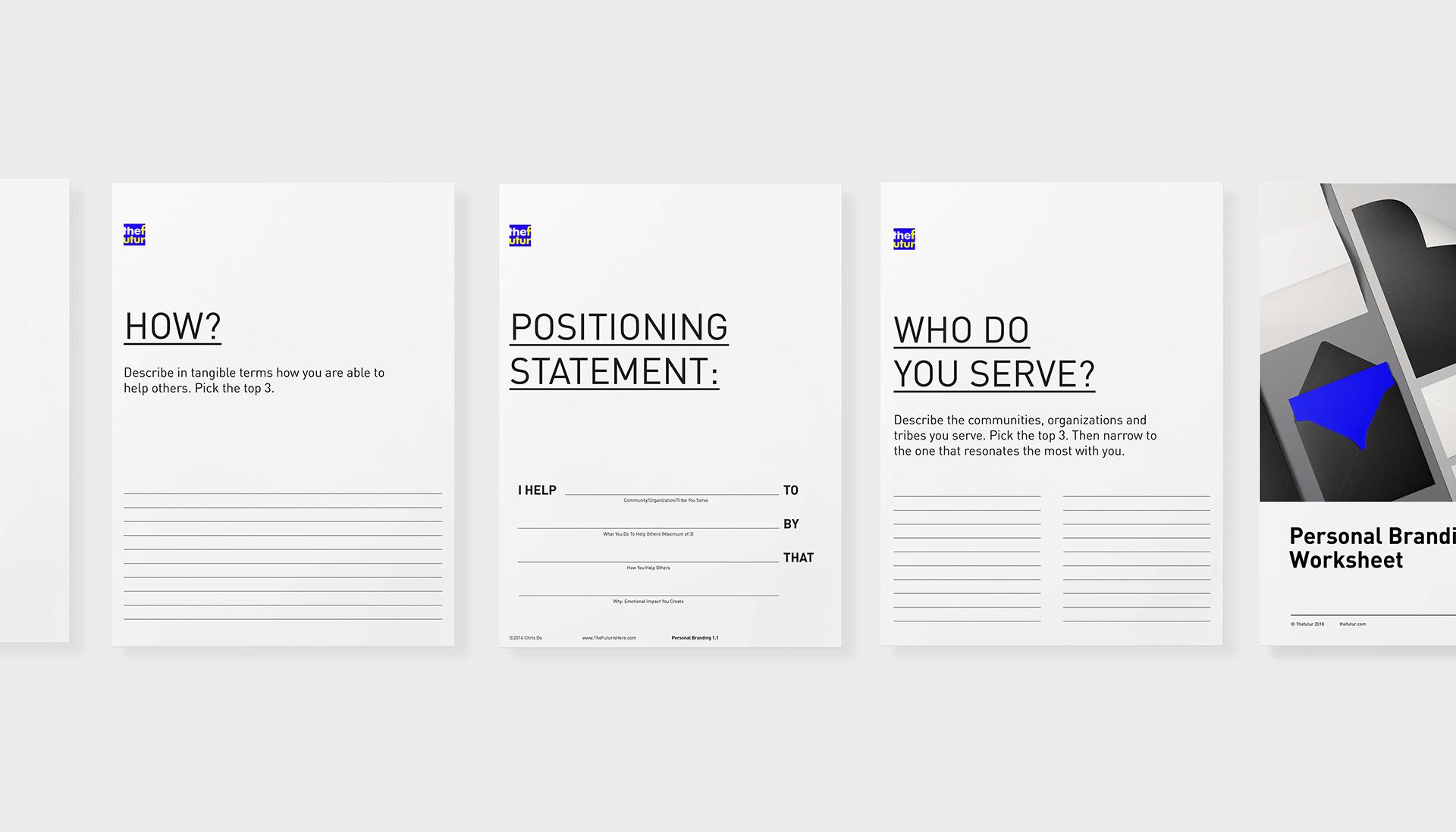 Personal Branding Worksheet Free Download