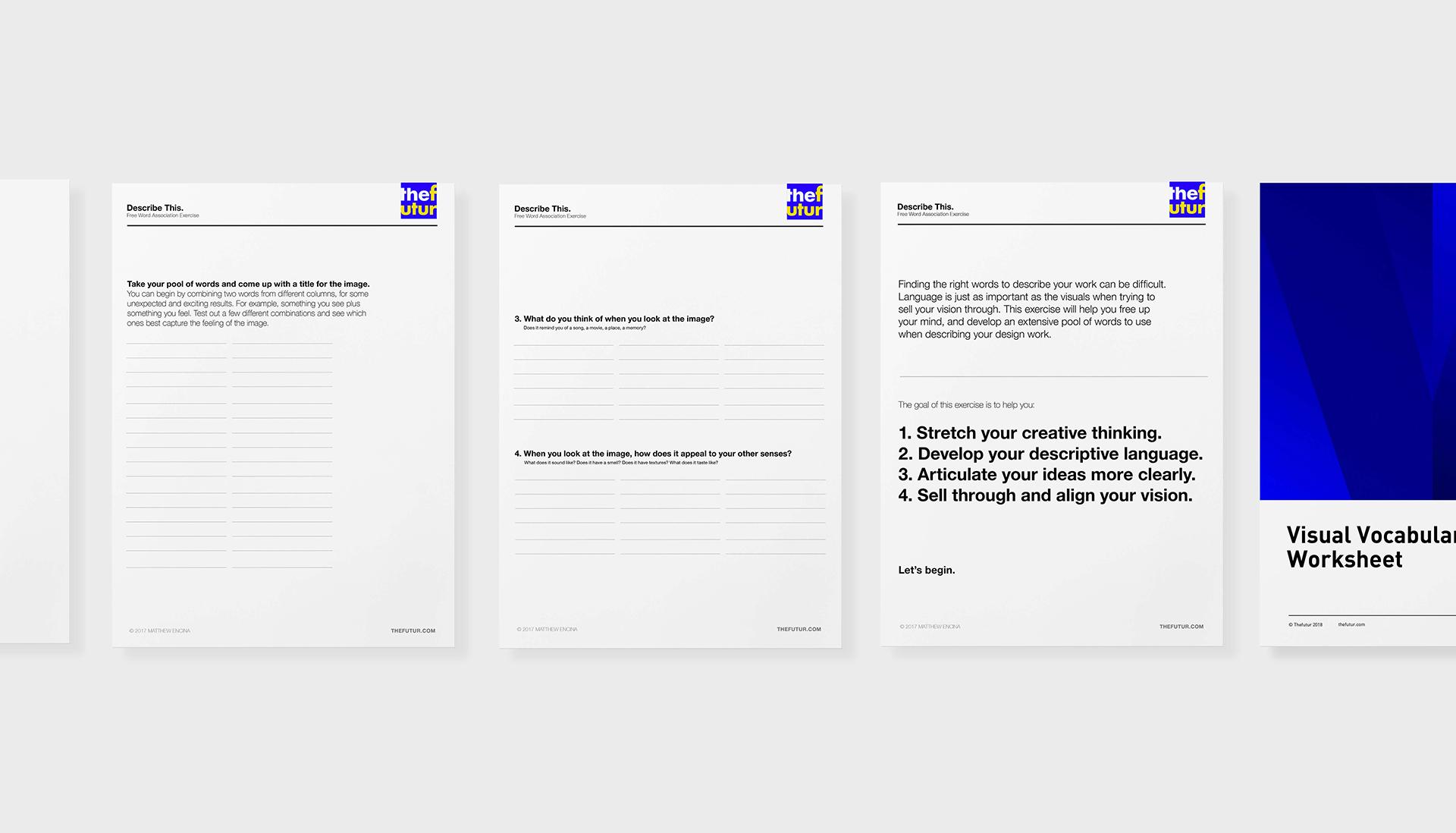 Visual Vocabulary Worksheet Free Download