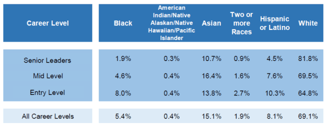 Racial makeup of Publicis Groupe U.S. workforce