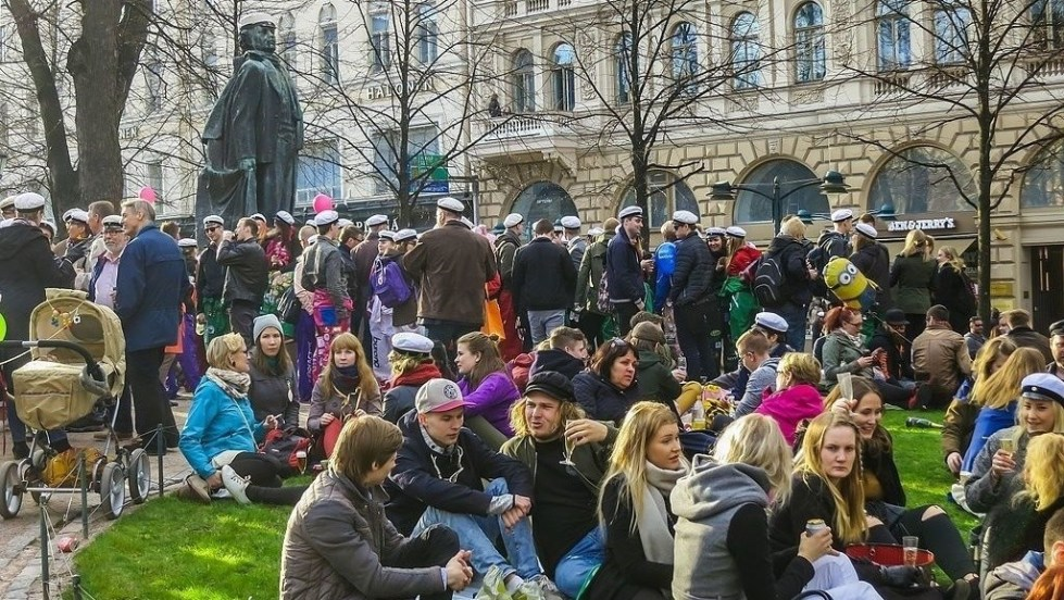 Finnish students in Helsinki.