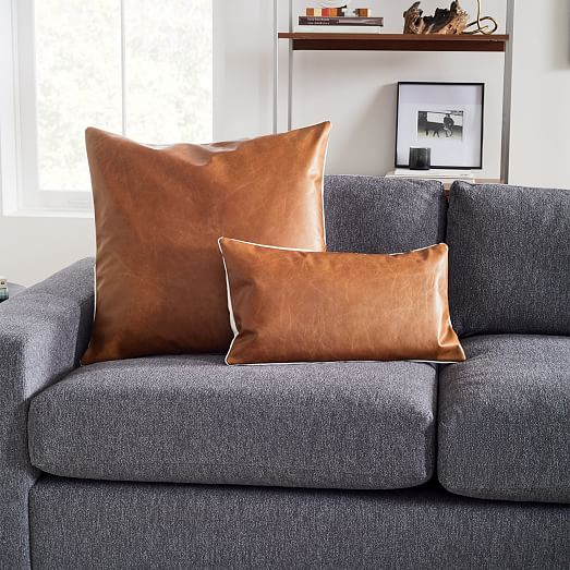 leather pillows online