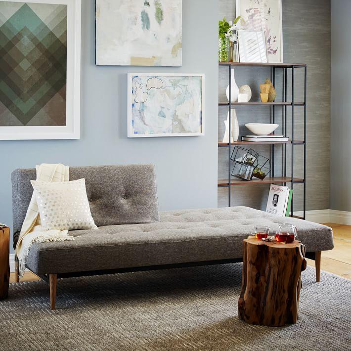 mid century full futon sofa