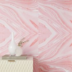 Chasing Paper Pink Marble Removable Wallpaper Pink