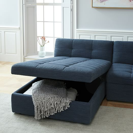 plateau 3 piece storage chaise