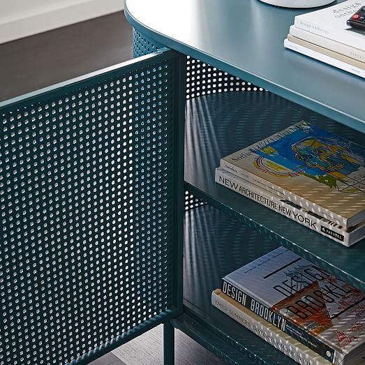 perforated metal media console
