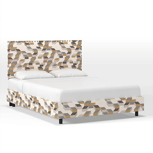 nailhead trim bed