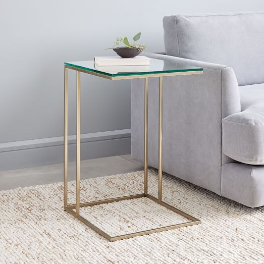streamline c side table glass