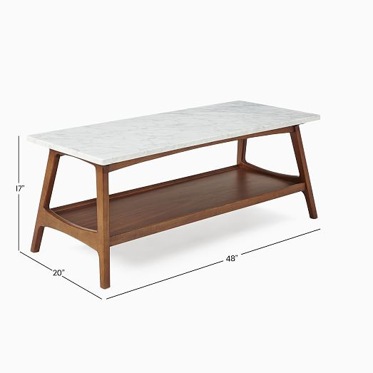 reeve mid century rectangular coffee table