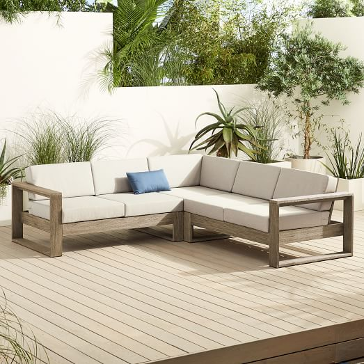 portside outdoor 3 piece l shaped sectional