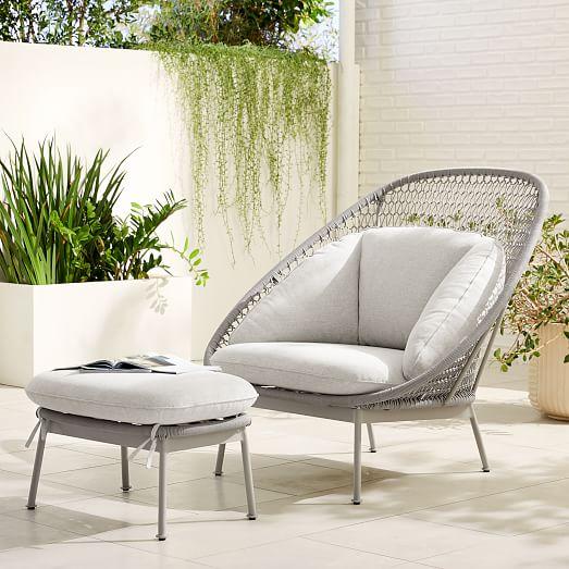 paradise outdoor lounge chair ottoman set
