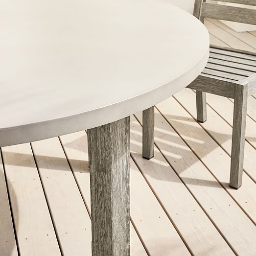 concrete outdoor round dining table 60