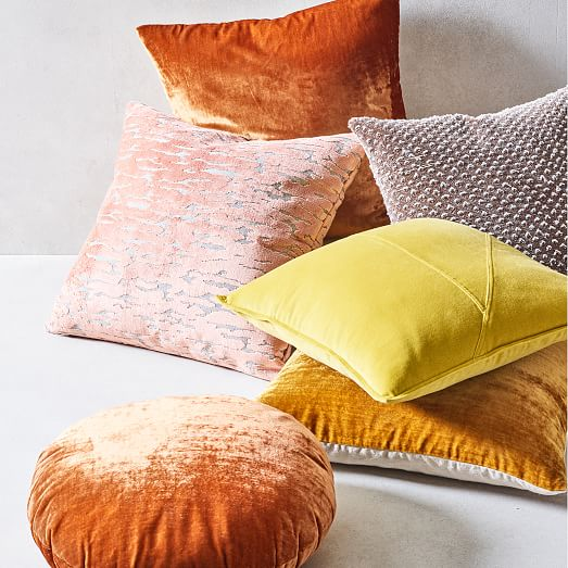 distressed cut velvet pillow cover