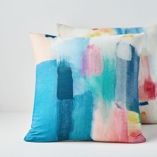 modern watercolor pillow covers