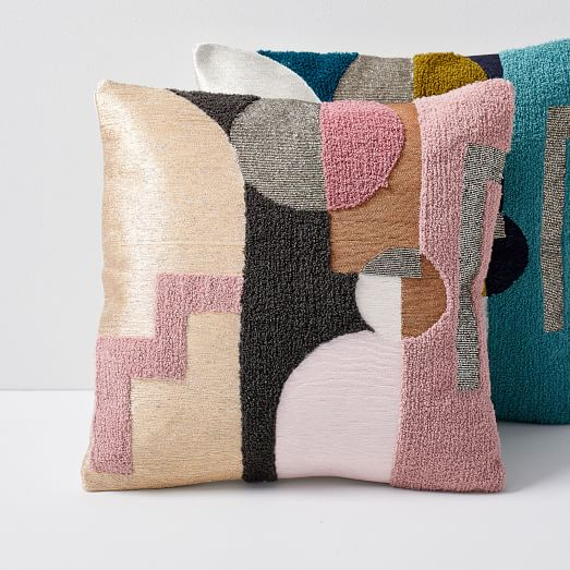 embellished deco shapes pillow covers