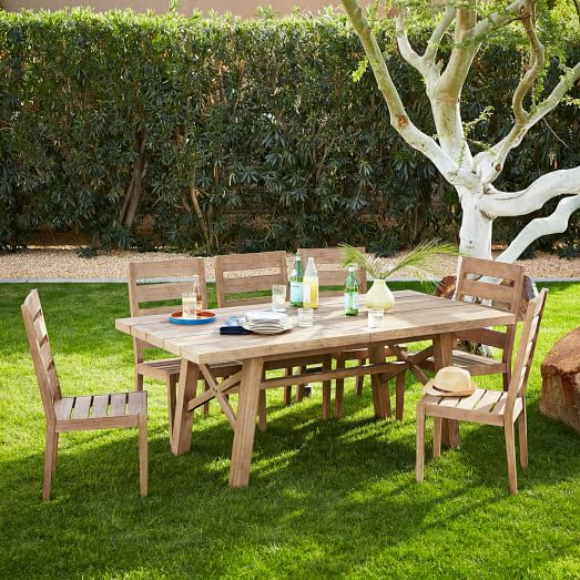 jardine outdoor expandable dining set