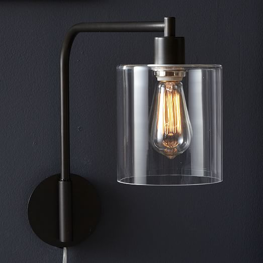 lens wall sconce