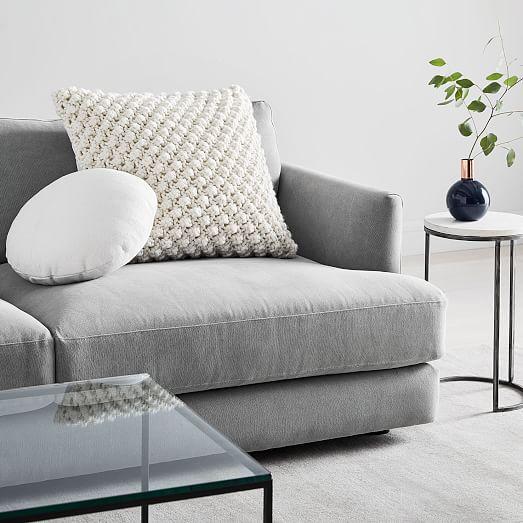 bobble knit cotton canvas pillow set