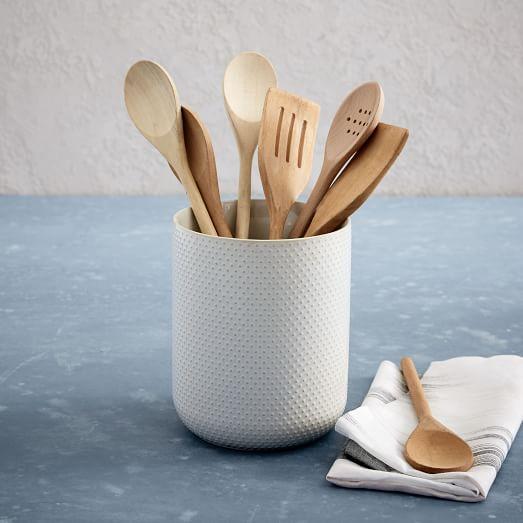 Textured Utensil Holder Kitchen Storage Solutions