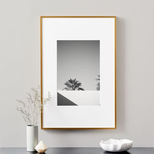 metal gallery frame matte gold