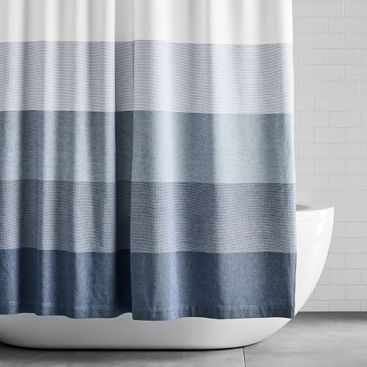organic dobby ombre shower curtain