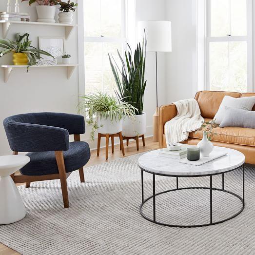 streamline round coffee table