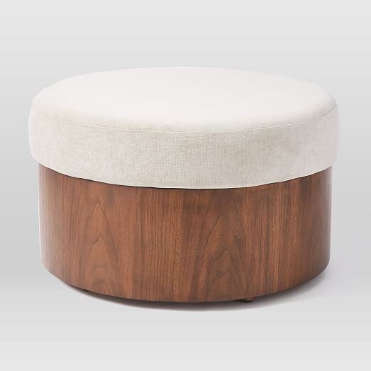 upholstered top storage ottoman