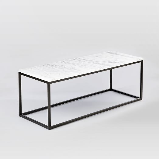 box frame coffee table marble antique