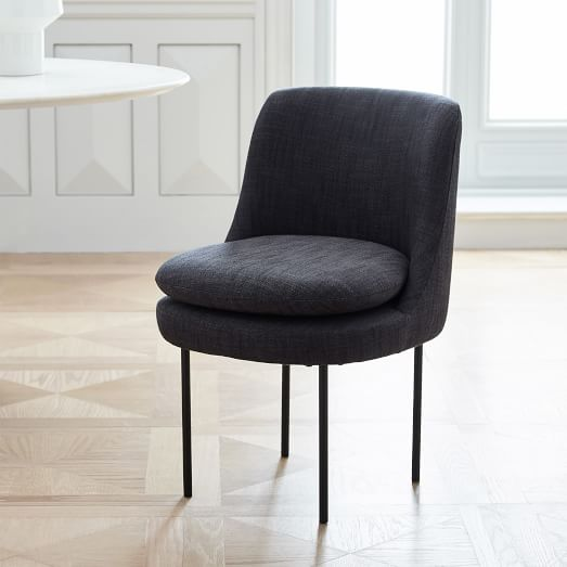 Modern Curved Upholstered Dining Chair