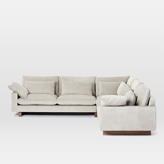 harmony 3 piece l shaped sectional