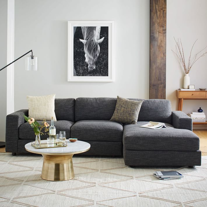 urban 2 piece chaise sectional small