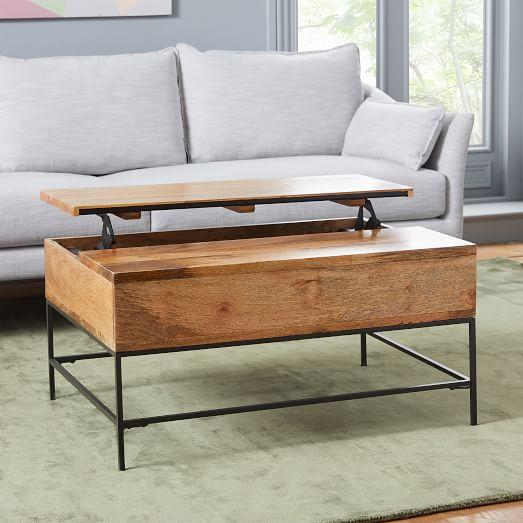 industrial storage pop up coffee table