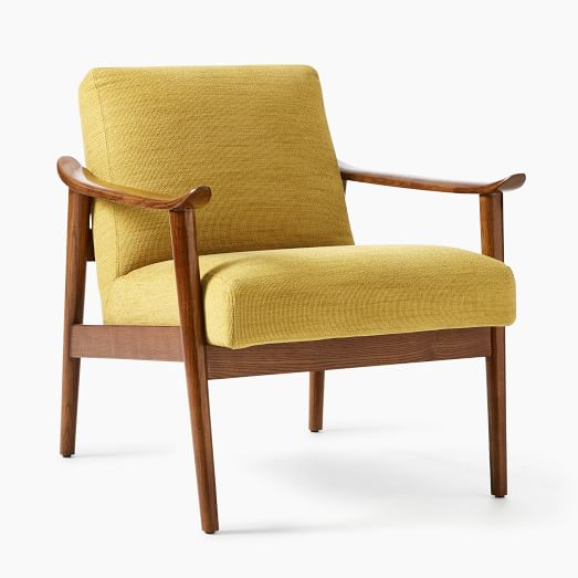 mid century show wood chair